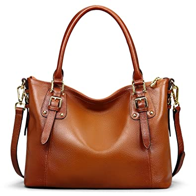 07c052ef91 BIG SALE-AINIMOER Women s Large Genuine Leather Vintage Shoulder Handbags  Ladies Top-handle Purse