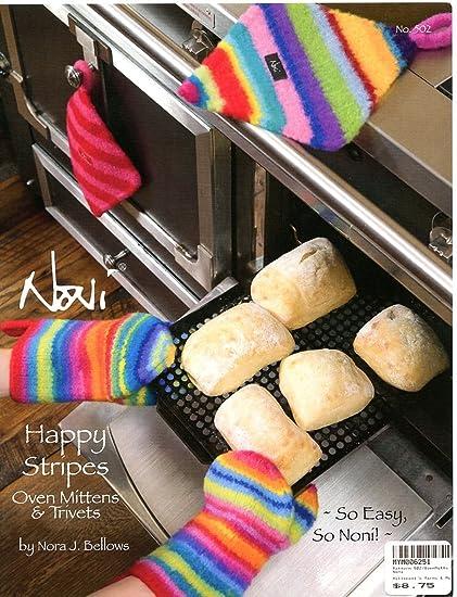 Amazon Happy Stripes Oven Mitts Trivets Noni Knitting