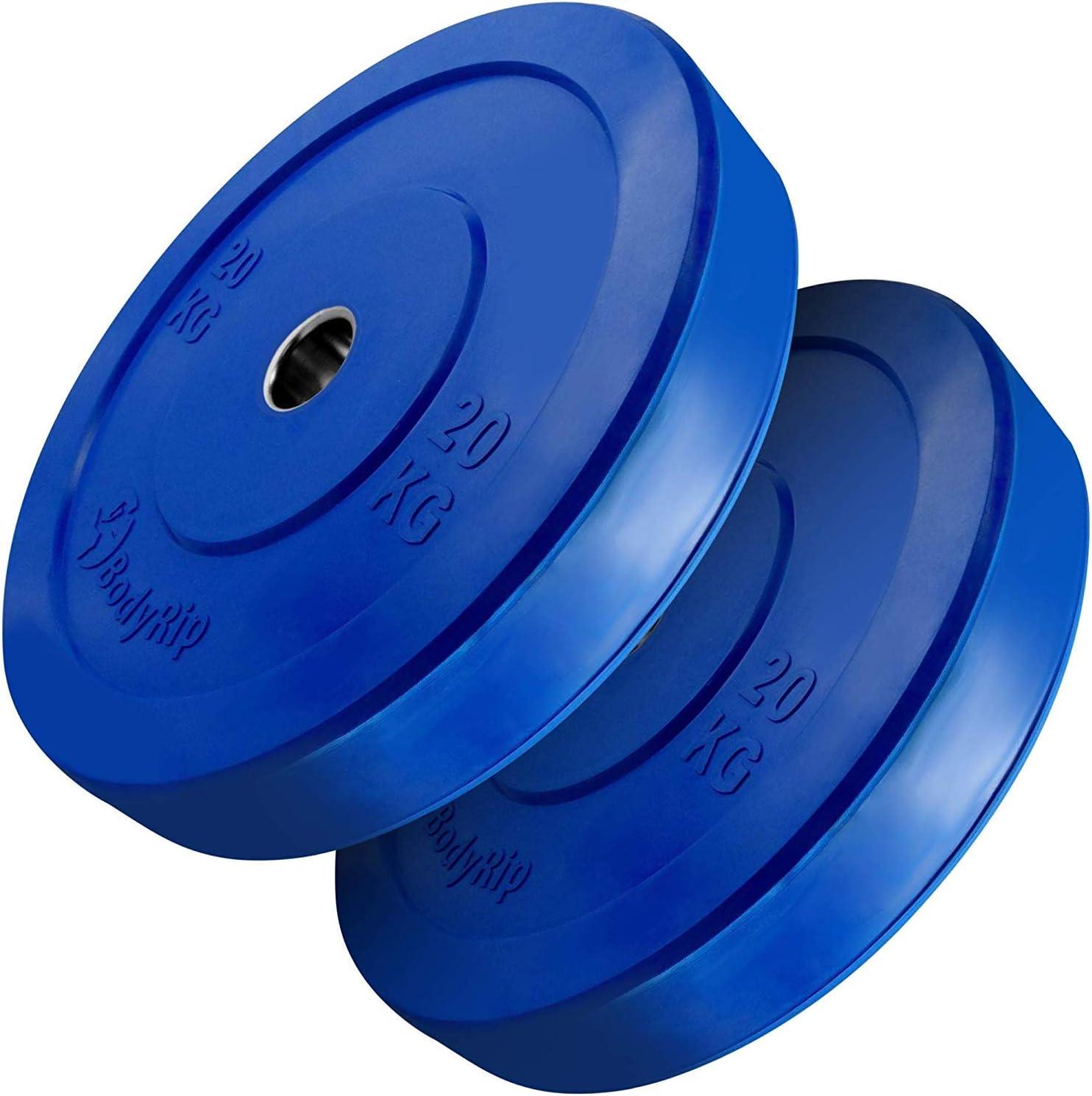 20 kg Bodyrip IWF Bumper Plates Blue Single