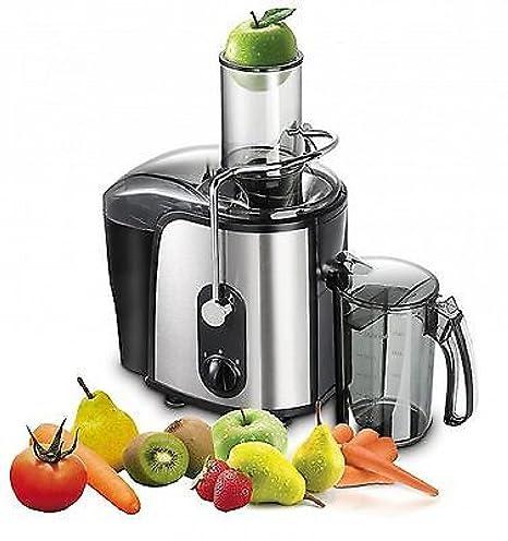 Hikenn Licuadora acero inoxidable Exprimidor eléctrico Frutas Prensa frutas 1000 W