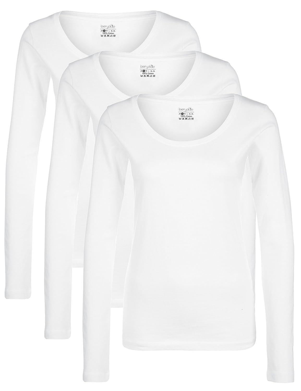Berydale Women's Long Sleeve Top, Pack of 3 Summary GmbH (Apparel) BD159