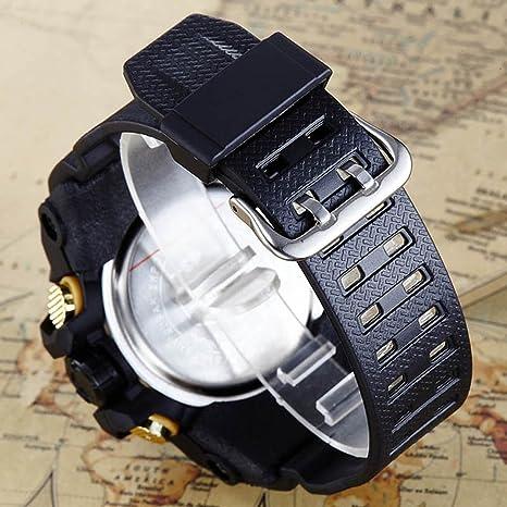 HWCOO SBAO Relojes electrónica Deportiva Multifuncional Reloj Despertador de Doble Pantalla (Color : 6): Amazon.es: Relojes