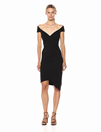 e5e2788bf5c Nicole Miller Women s Structured Heavy Jersey Stefanie Dress at ...