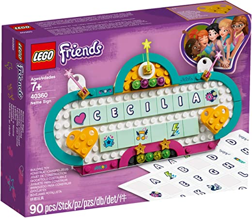 LEGO Friends Name Sign - Stylize Your Name with Your Very Own Friends Name Sign!: Amazon.es: Juguetes y juegos