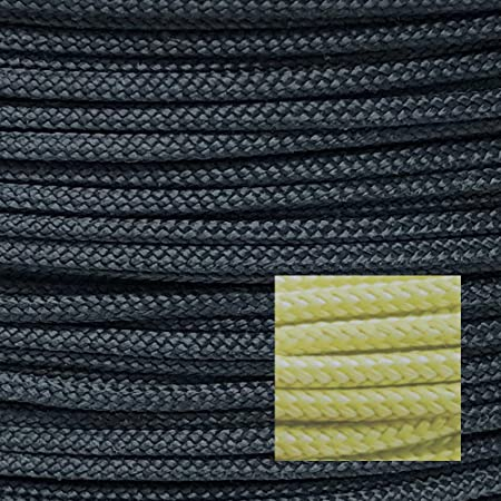 900lb 100 Dupont Kevlar Braided Line,3mm Dia, HeavyDuty Speargun Shooting Line, Cut Abrasion Resistant Large Model Rocket Paracord,Heat Tolerant to 900f, Survival Tactical, high Strength Weight