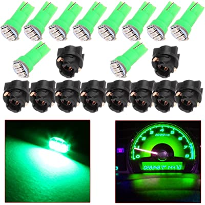 cciyu 10x 74 Twist-in Instrument Panel Dash Light Green LED Bulbs PC74 Sockets T5 Kit 307 308 406 407 2721 85 86 For 2005-2011 Nissan Altima Armada Frontier Maxima Murano Sentra Titan etc: Automotive