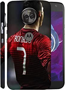 ColorKing Football Ronaldo Portugal 13 Multicolor shell case cover for Motorola Moto X4