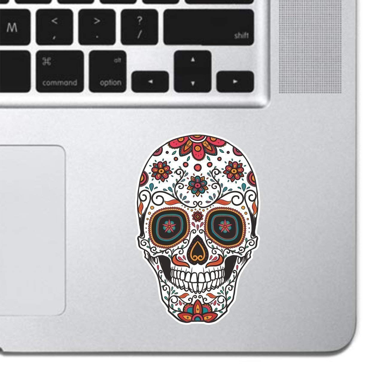 Ornamental Sugar Skull Keyboard, Keypad Vinyl Macbook Decal Sticker - Skin Track Pad MacBook Pro Air 13 15 17 iPad Laptop Decal Sticker iPad Sticker Skull Sticker Day Of the Dead