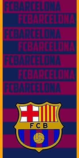 FCB FC Barcelona Toalla 100% Poliester, Azulgrana 70 x 140 cm: Amazon.es: Hogar
