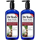 Dr Teal's Epsom Salt Bath and Shower Body Wash with Pump - Shea Butter and Almond Oil - Pack of 2, 24 Oz Each - Soften…