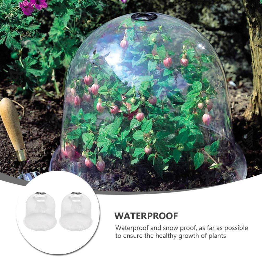 Yardwe 2 Pz Giardino Cloche Cupola Plastica Riutilizzabile Mini Serra Pianta Campana Copertura di Protezione Antigelo Protezione Antigelo per Piante Allaperto Attrezzi da Giardino