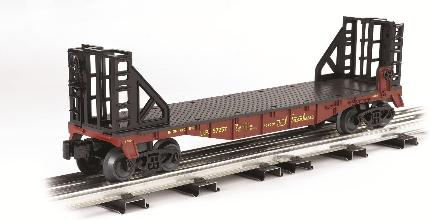 O Scale Union Pacific Williams By Bachmann Trains Flat Car With Bulkhead Ends