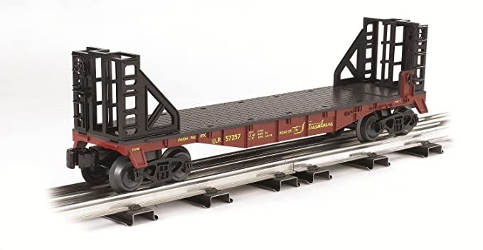 Williams By Bachmann Trains Flat Car With Bulkhead Ends - Union Pacific - O  Scale