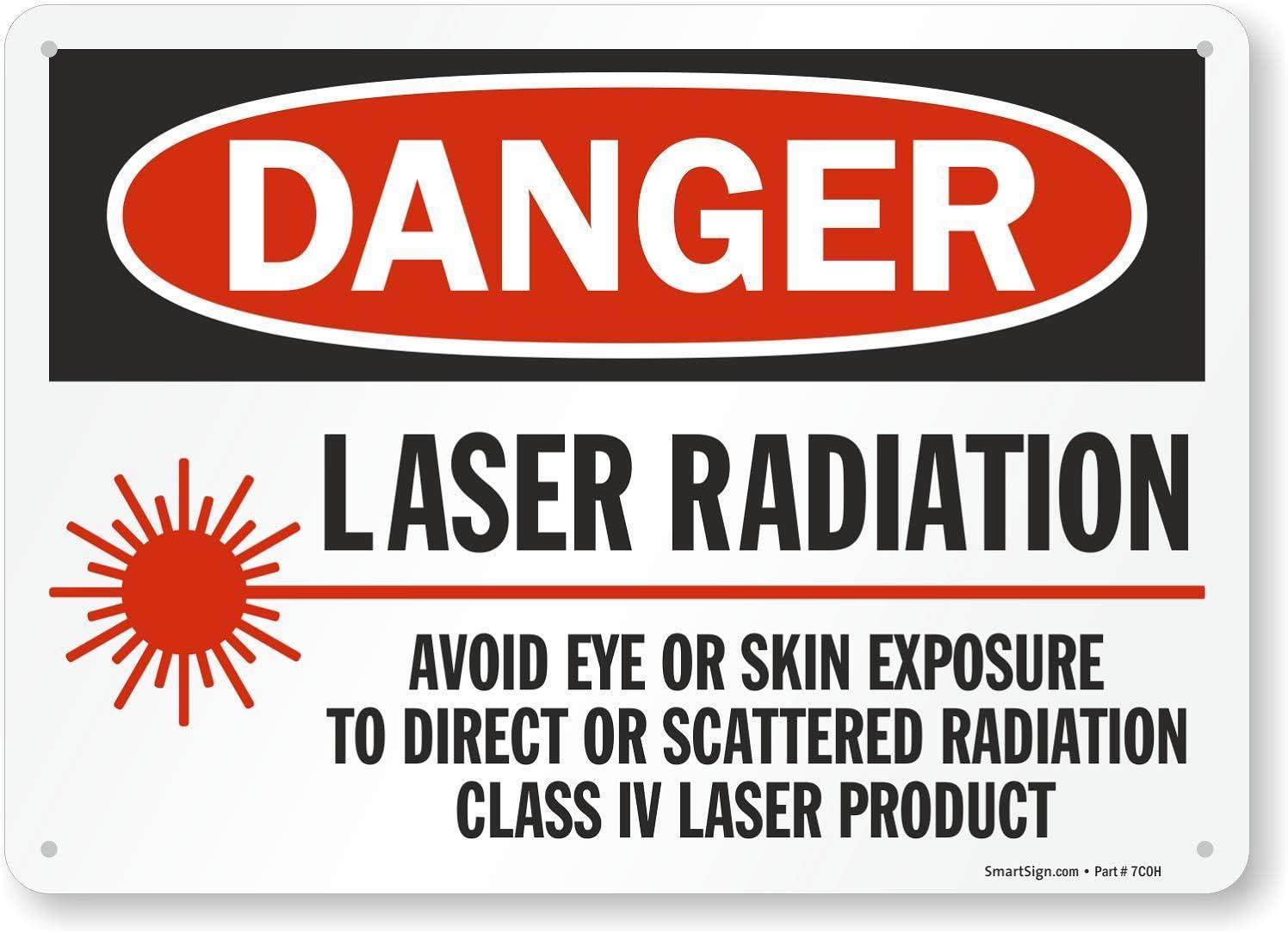 Smartsign S-2932-PL-10x24Caution Radiation Area Plastic Sign