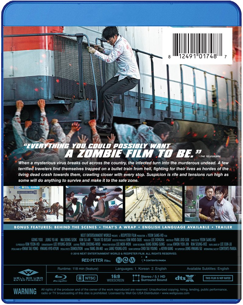 amazon com train to busan blu ray gong yoo jeong yu mi choi