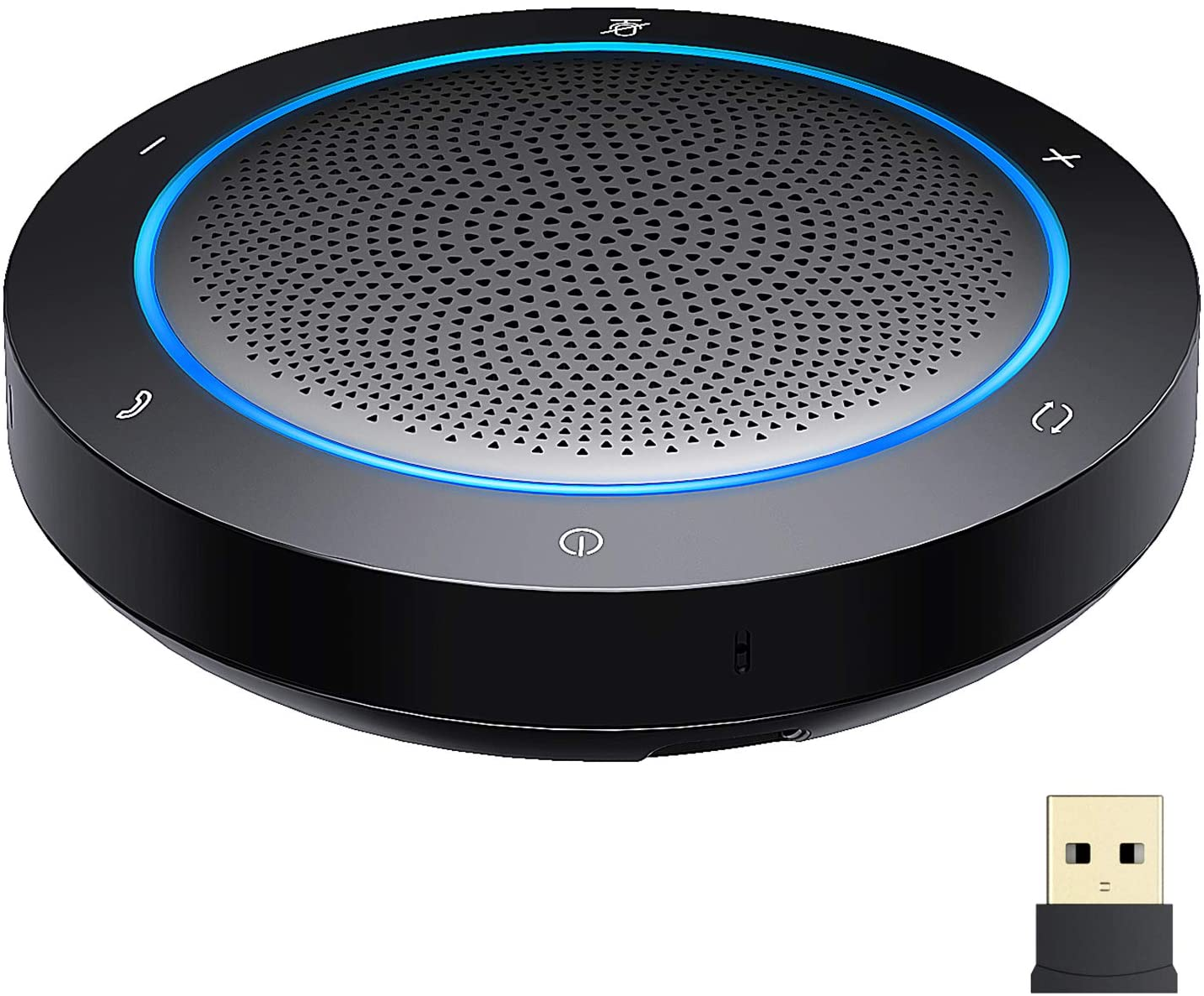 GOGOCOOL Altavoz Bluetooth con micrófono, Altavoz para conferencias con reducción de Ruido, conexión USB/Dongle/Bluetooth, Compatible con Aplicaciones de conferencias de Oficina en casa