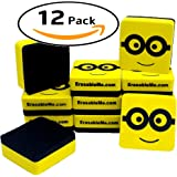 "ItemMax Best Magnetic Whiteboard Dry Eraser Set | 12 Pack Of 2"" Erasers 