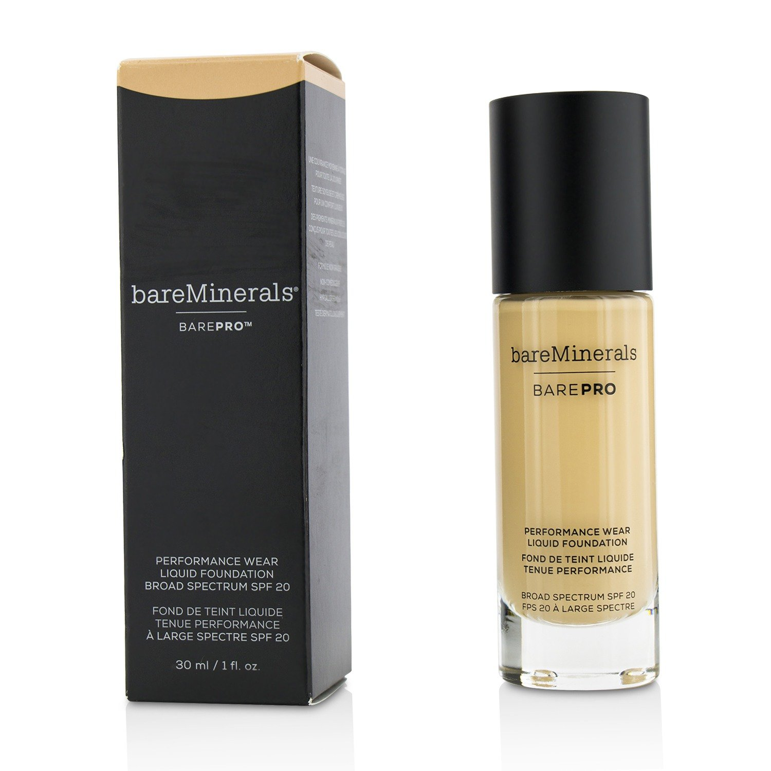 bareMinerals BarePro Performance Wear Liquid Foundation Sateen 05, 1 Fluid Ounce