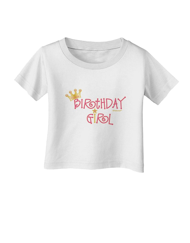 TooLoud Birthday Girl Princess Crown and Wand Infant T-Shirt