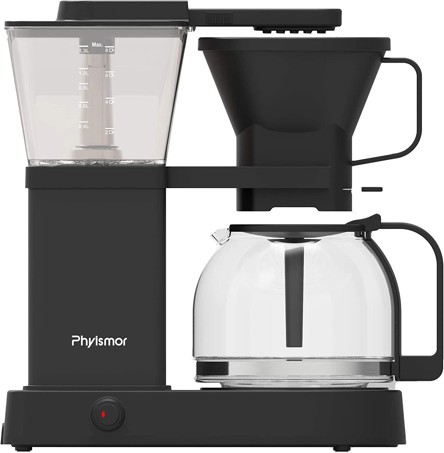 8 cup coffee maker, Automatic Drip-Stop Coffee Maker, Borosilicate Glass Carafe, Pour Over Style, Pre-Infusion Mode
