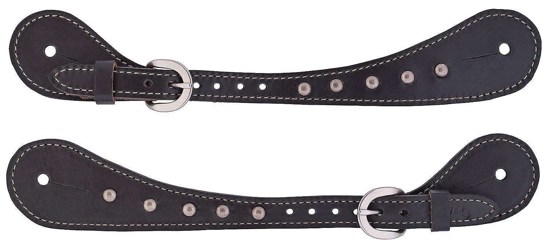 schwarz 0287/Roundtable Herren Sie die Form Sporenriemen Weaver Leder 30
