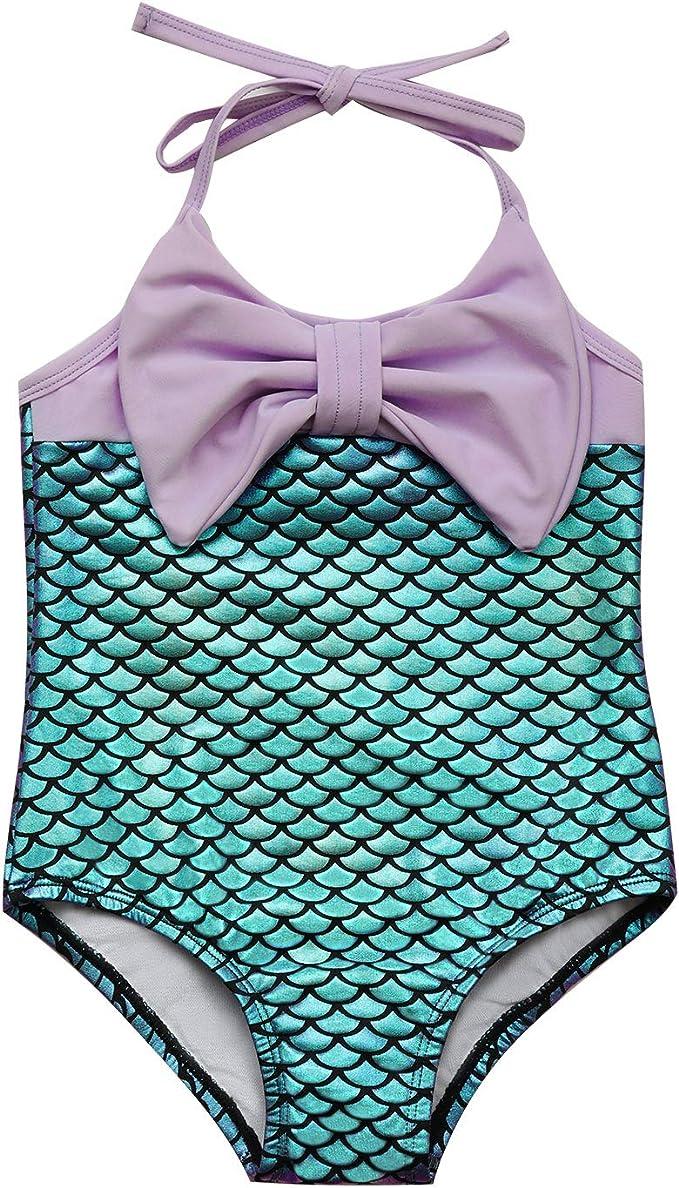 7-Mi Costume da Bagno per Beb/è da Bambina Intero con Costumi da Bagno