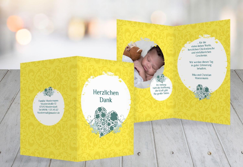 Kartenparadies Dankeskarte Taufe Tauf Tauf Tauf Dankeskarte Kreise, hochwertige Danksagung für Taufgeschenke inklusive Umschläge   100 Karten - (Format  105x148 mm) Farbe  KräftigHellGelb B01N5V916Y | Mama kaufte ein bequemes, Baby ist glücklich  |  937c20