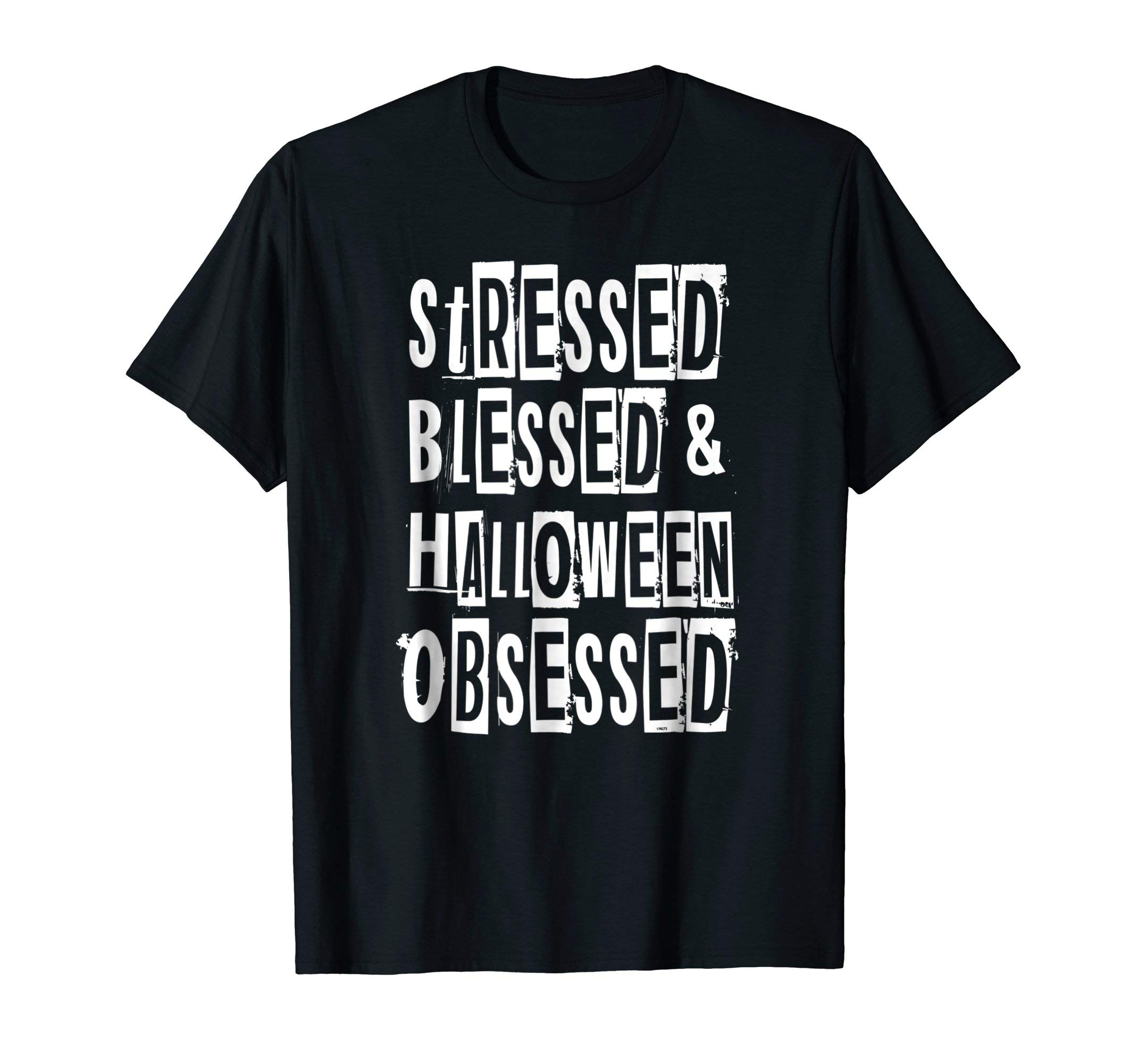 Stressed-Blessed-Halloween-Obsessed-Humor-Fun-T-Shirt