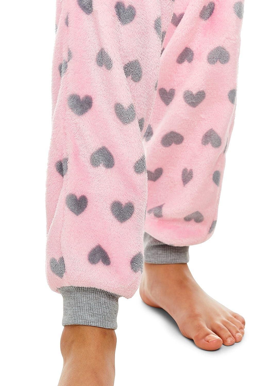Girls Plush Pajama Bottoms Fleece Print Jogger Sleep Pants