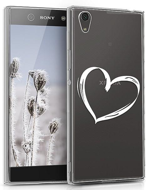 Backcover Cellulare Fucsia//Rosa//Trasparente Custodia in Silicone TPU per Sony Xperia XA1 Ultra kwmobile Sony Xperia XA1 Ultra Cover