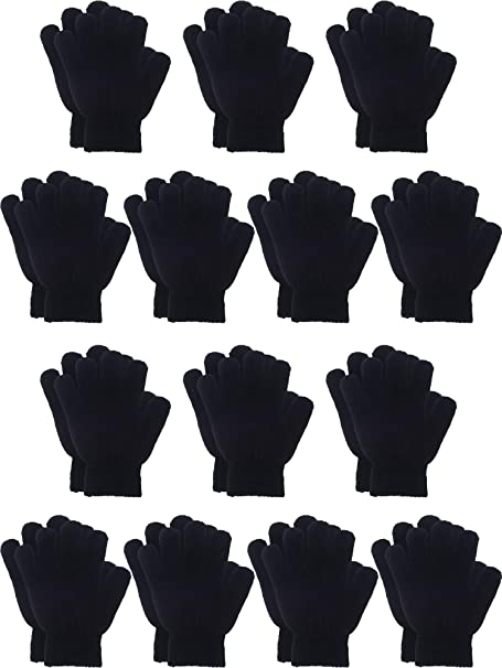 Boy Girl Special Occasion Elastic Short Kid Gloves Full Finger Satin Feel 1 Pair
