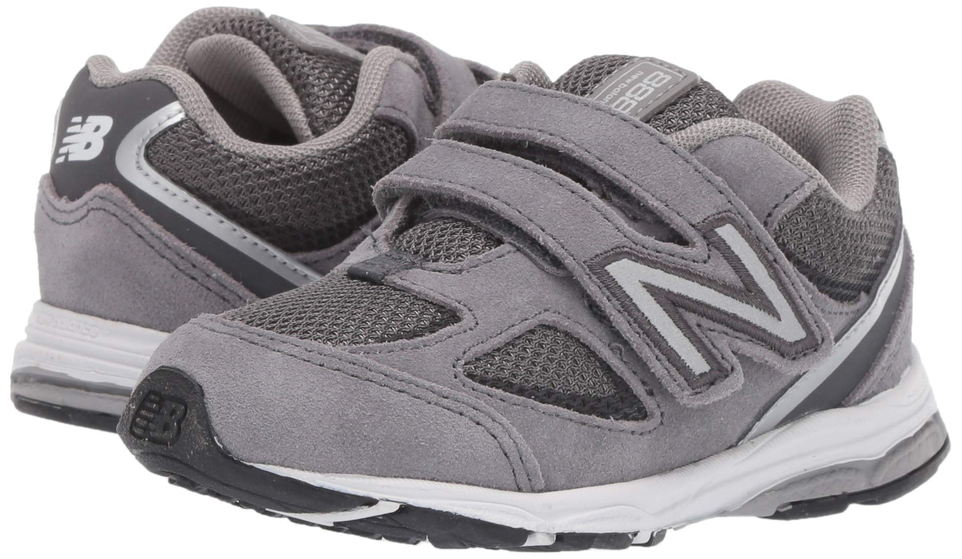 New Balance Boys' 888v2 Hook and Loop Running Shoe, Dark Grey, 2 M US Infant by New Balance (Image #5)