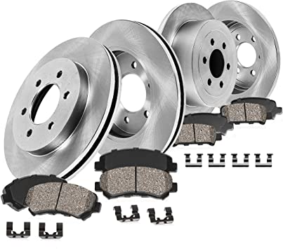 OE Replacement Rotors w//Metallic Pads F+R See Desc 11 Fit Hyundai Elantra 1.8L