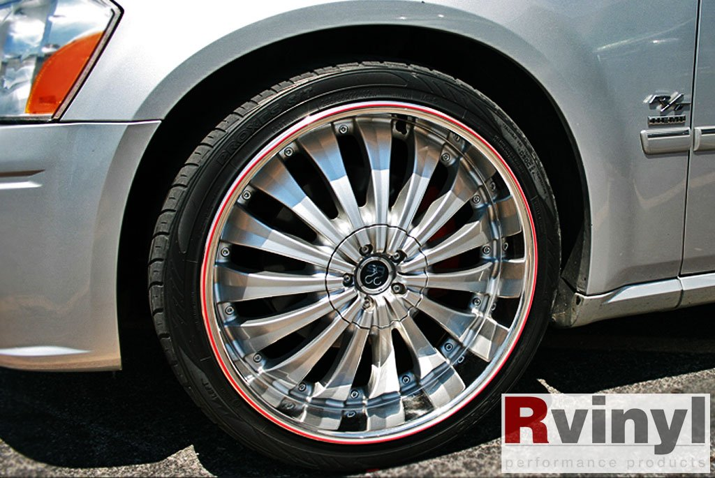 Wheel Bands Rim Protector - Pink W/ Black Track by Wheel Bands (Image #8)