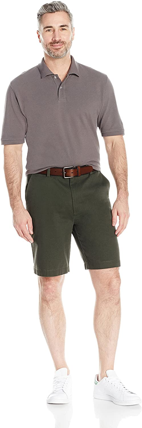 "Amazon Essentials Men's Classic-fit 9"" Print Short Olive"