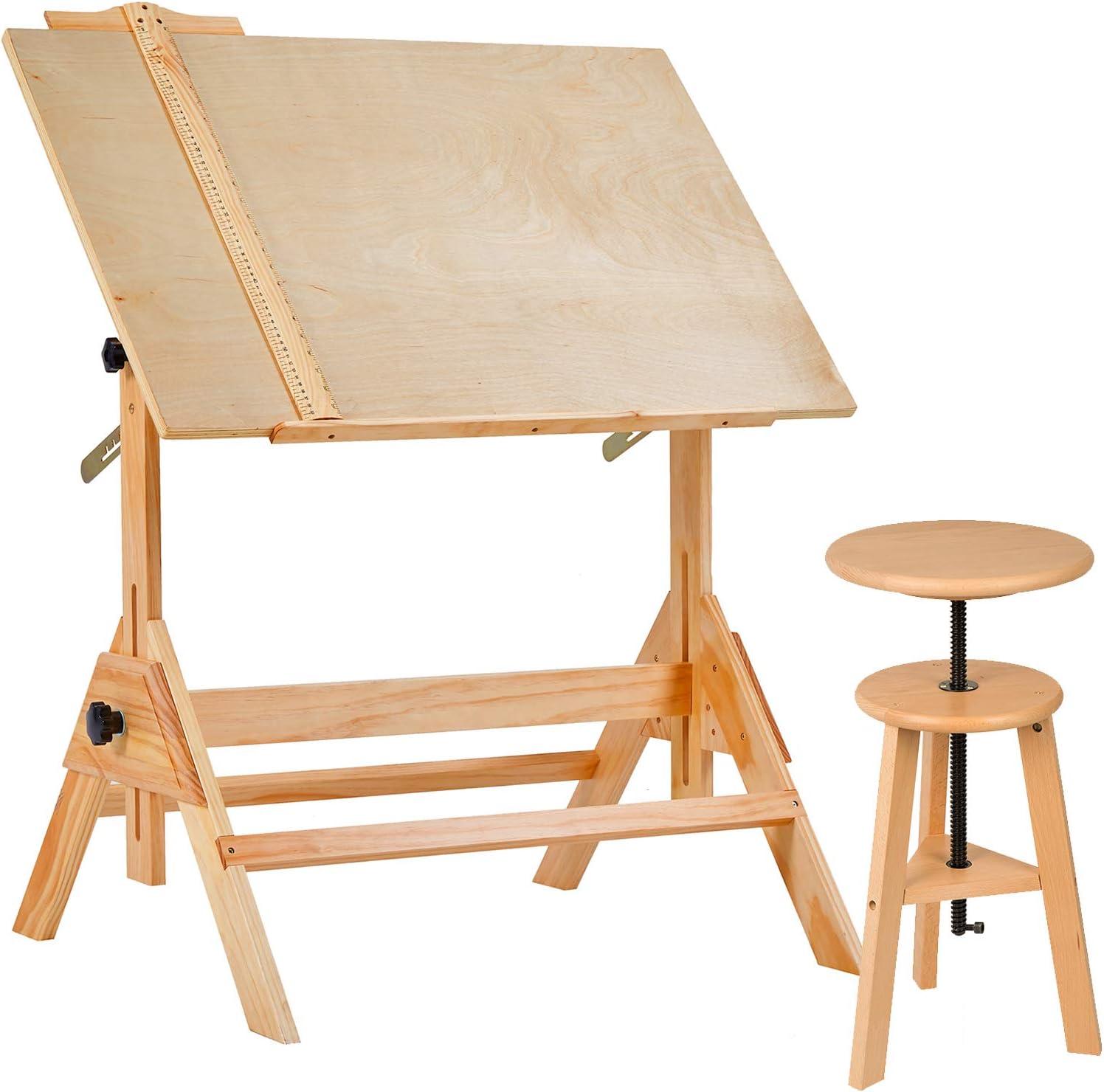 sgabello da cucina cucina bar. uso domestico sgabello da disegno in legno MEEDEN Sgabello da bar in legno con altezza regolabile perfetto per artisti studio