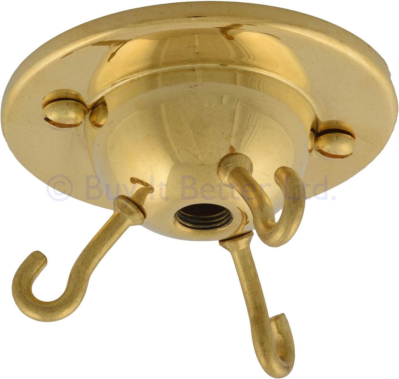 Buy It Better - Gancho para lámpara de techo (3 ganchos, plato ...