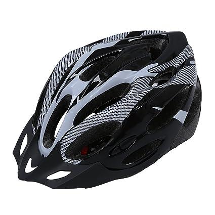SODIAL(R) Casco de Ciclismo Bicicleta Bici Proteccion Ajustable Blanco