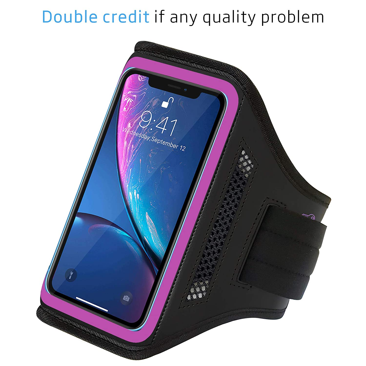 LOVPHONE iPhone XR/Galaxy S10 Armband, Sport Running Exercise Gym