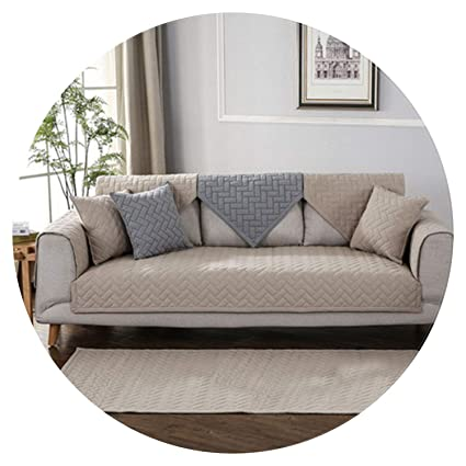 Amazon.com: Modern Style Blue Grey Khaki Quilted Sofa ...