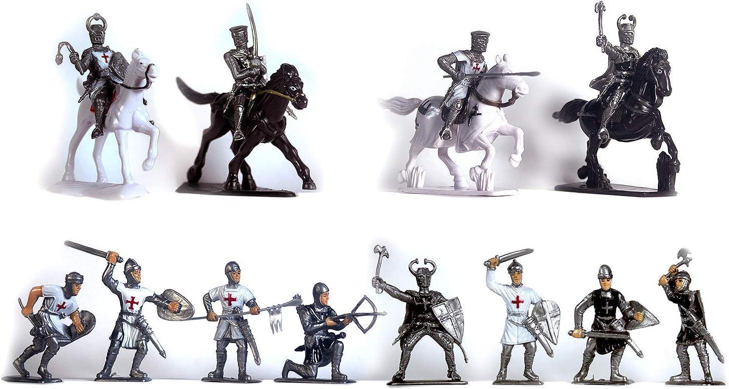 Mini figurine knight crusader weapon figure medieval castle