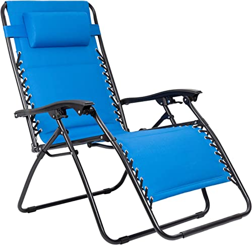 Flamaker Zero Gravity Chair Oversized Padded Patio Adjustable Recliner Outdoor Lounger Chair