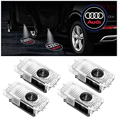 Car Door Projector LED Light Compatible with Audi, KFZMAN Car Door Logo Welcome Light Compatible with Audi A1 A3 A4 A5 A7 A8 Q3 Q5 Q7 RS3/4 TT,Upgraded Version, Pack of 4 (For Audi Series): Automotive
