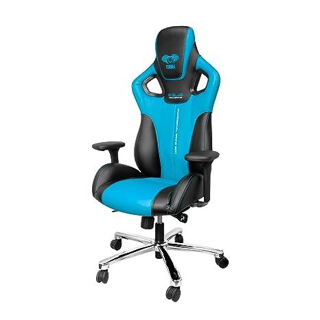 E-Blue Silla Gaming Racing para Oficina Ergonómica Ordenador Escritorio Ejecutivo - Azul