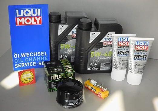 MotorFunSports - Juego de Mantenimiento para Piaggio X EVO 125 (Filtro de Aceite, bujía, Servicio, inspección): Amazon.es: Coche y moto