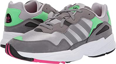 14c9a938a6 Image Unavailable. Image not available for. Color  adidas Originals Men s  Yung-96 Grey Two F17 Grey Three F17 Shock Pink