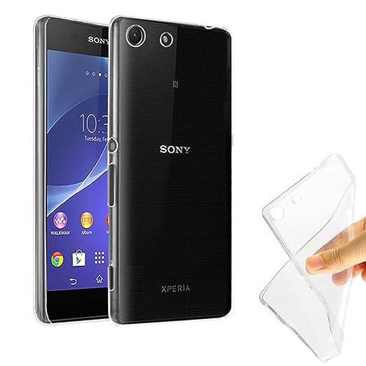 7 opinioni per TBOC® Custodia Gel TPU Trasparente per Sony Xperia M5 E5603 E5606 E5653 in
