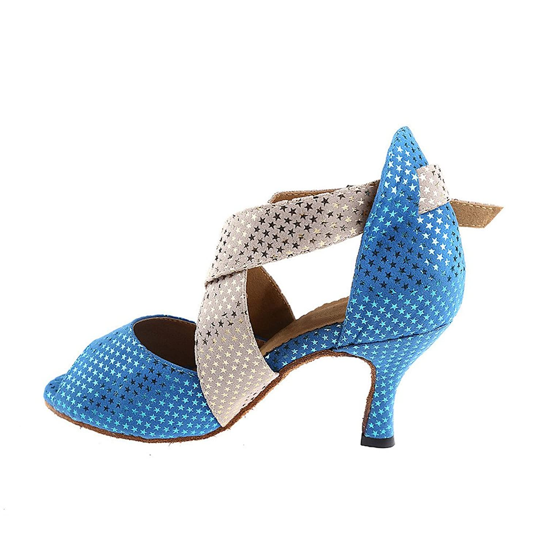 misu - Zapatillas de danza para mujer Azul azul, color Azul, talla 36