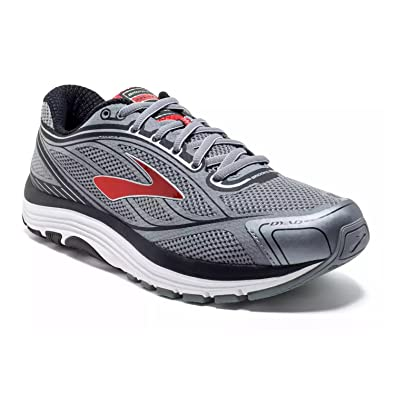 54683a44e88 Brooks Men s Dyad 9 Primer Grey High Risk Red Black Athletic Shoe  Buy  Online at Low Prices in India - Amazon.in