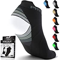 Compression Running Socks for Men & Women - Best Low Cut No Show Athletic Socks for Stamina Circulation & Recovery…